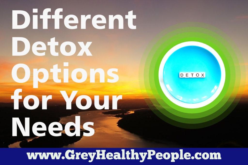 different drug detox options